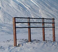 Druimuachdar Pass covered in snow by Keith Larby