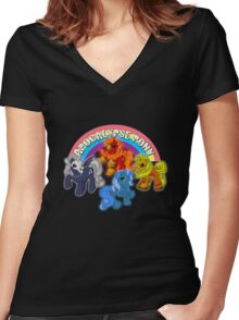 Apocalypse pony Women's Fitted V-Neck T-Shirt