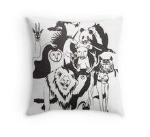 Animal Kingdom by Georgia Rodriguez Throw Pillow