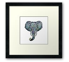 Elephant Pen&Ink Doodle Framed Print