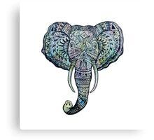 Elephant Pen&Ink Doodle Canvas Print