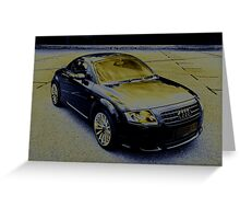 Audi TT Quattro Sport Coupe 2005 Greeting Card