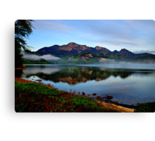 Mountain and Lake in the Morning Canvas Print