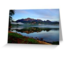 Mountain and Lake in the Morning Greeting Card