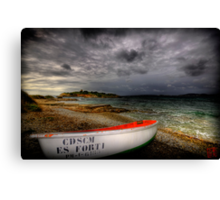 Little Row Boat 3 Canvas Print
