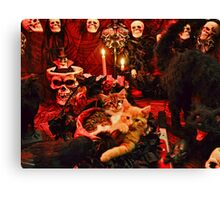Venus & Di Milo ~ Gothic Kitty Cat Kittens in Halloween Art Decor Canvas Print