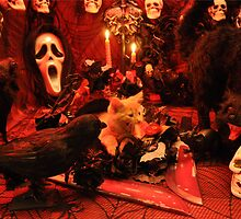 Di Milo ~ The Scream ~ Gothic Kitty Cat Kitten in Halloween Horror House by Chantal PhotoPix