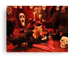 Di Milo ~ The Scream ~ Gothic Kitty Cat Kitten in Halloween Horror House Canvas Print