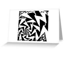 Electric Swirl Maze Greeting Card