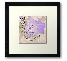 Wedding Blossoms Framed Print