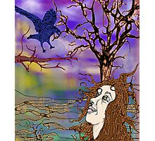 Raven and Me Photographic Print