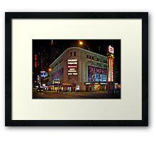 Shubert Theatre at Night Framed Print