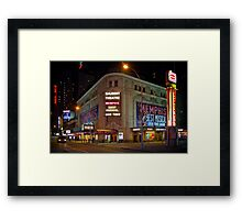 Shubert Theatre at Night Framed Print