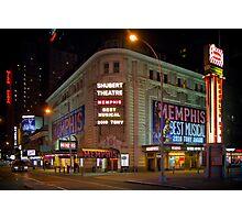 Shubert Theatre at Night Photographic Print