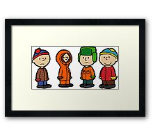 Welcome to South Park Charlie Brown Framed Print