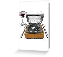 Dinner Music Greeting Card