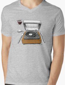 Dinner Music Mens V-Neck T-Shirt