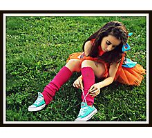 To Lace-up Photographic Print