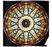 Stained Glass Church Window Kaleidoscope Poster