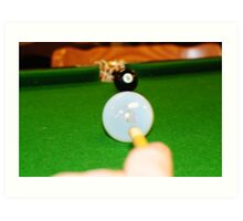 A Light Game Of Snooker Art Print