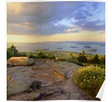 Cadillac Mountain Evening Poster