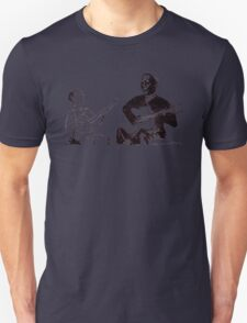 Young Pete Seeger and old Huddie Lead Belly T-Shirt