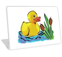 Cute Duck in a Small Pond Laptop Skin