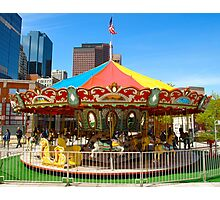 Childs Play - Carrousel Photographic Print