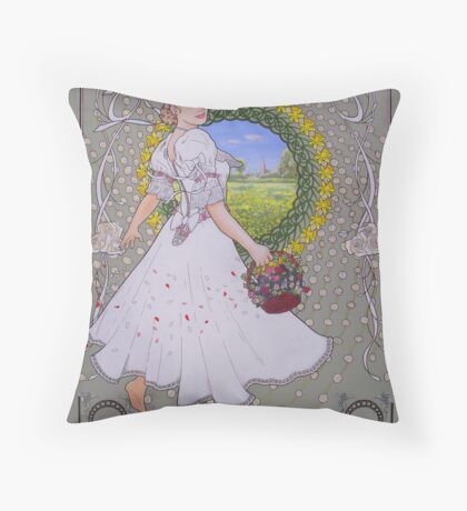 Spring's Invitation Throw Pillow