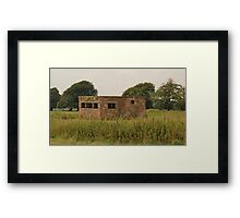 Early Fighter Watch Office At RAF Culmhead Framed Print