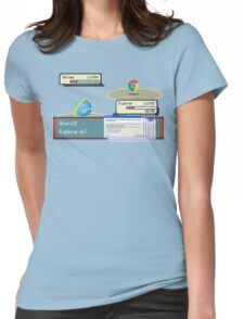 Browser Battle Womens Fitted T-Shirt