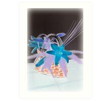 'Flowers in Bag Vase' Art Print