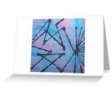 'Abstract Colour with Black' Greeting Card