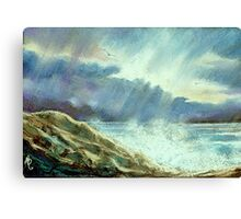 Storm Over The Atlantic Canvas Print