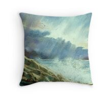 Storm Over The Atlantic Throw Pillow