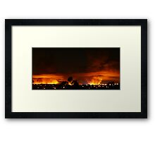 Burning Skyline Framed Print