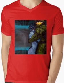Cortana & Master Chief Mens V-Neck T-Shirt