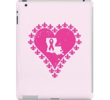 Think Pink Louisiana Fleur de Lis Heart iPad Case/Skin