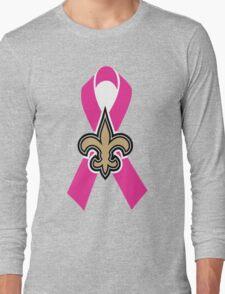 Breast Cancer Awareness Saints Long Sleeve T-Shirt