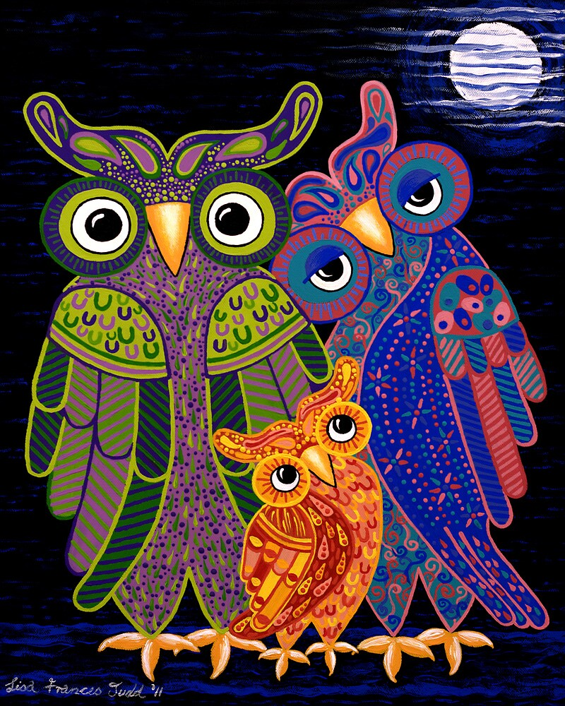 'Owl I Want Is You' - the cutest owl family ever! by Lisafrancesjudd