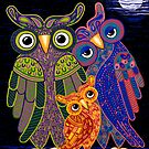 'Owl I Want Is You' - the cutest owl family ever! by Lisa Frances Judd~QuirkyHappyArt