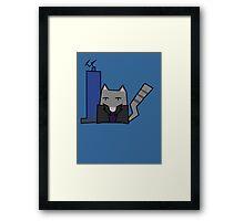 9th Doctor Cat Framed Print