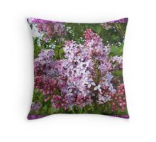 Smell the Lilacs My Florida Friends Throw Pillow