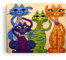 'High Street Cats' - their kind of posh! Canvas Print
