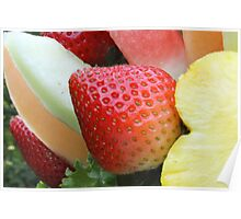 Strawberry with fruit Poster