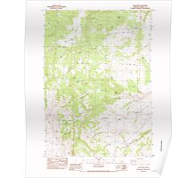 USGS Topo Map Oregon Long Barn 280575 1983 24000 Poster