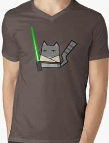 Skywalker Cat Mens V-Neck T-Shirt