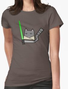 Skywalker Cat Womens Fitted T-Shirt