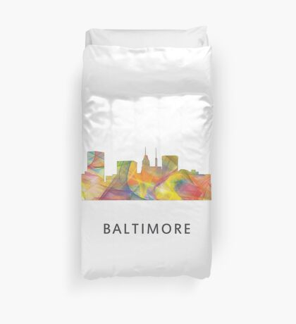 Baltimore, Maryland Skyline WB1 Duvet Cover
