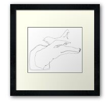 the fox Framed Print